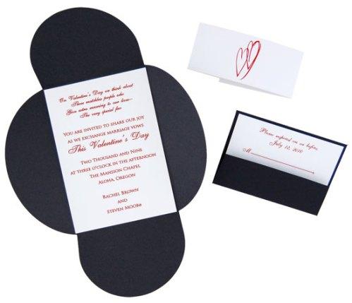 Black Tie Heart Pochette Invitation