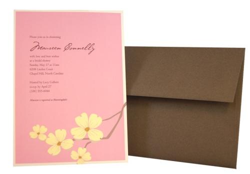 Dogwood Flower Invitation