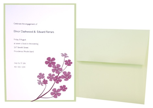 Lily Flower Invitation
