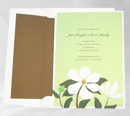 Magnolia Flower Invitation