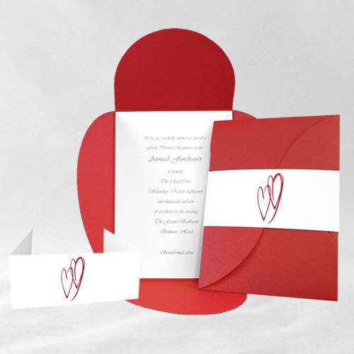 Red Hot Heart Pochette Invitation