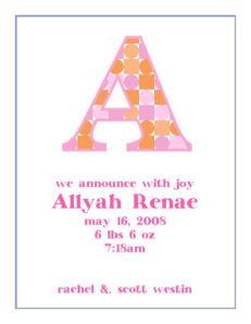allyah Renae announcement