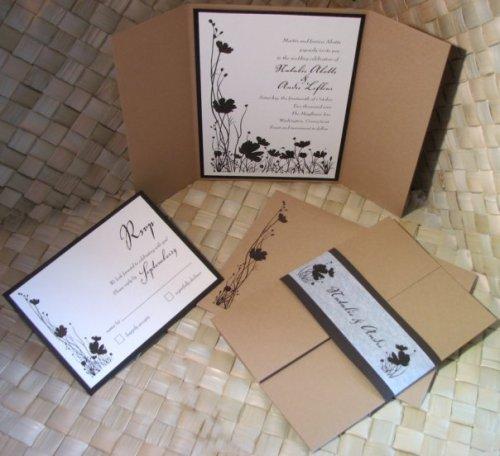 Mocha Flowered Folded Gate Card