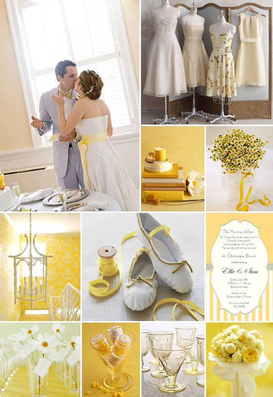 Yellow and White Summer Wedding At a beach wedding look for an easy and