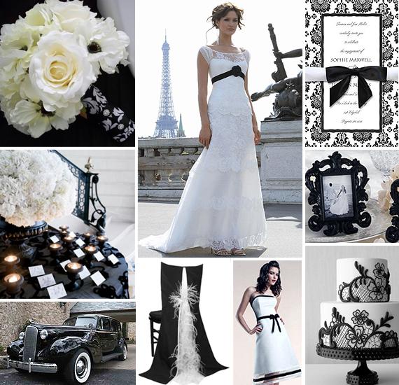 Black White Wedding Ideas: Platinum Invitations & Stationery
